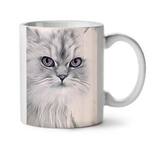 White Cat Photo Animal NEW White Tea Coffee Mug 11 oz | Wellcoda