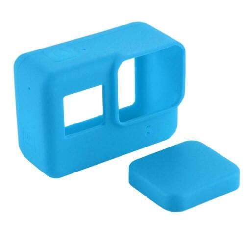PULUZ Silicone Protective Case with Lens Cap Cover for GoPro Hero 5 Camera #8Y