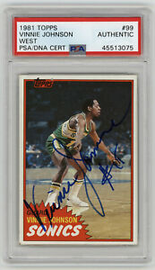 1981-SUPERSONICS-Vinnie-Johnson-signed-ROOKIE-card-Topps-99-PSA-DNA-AUTO-RC