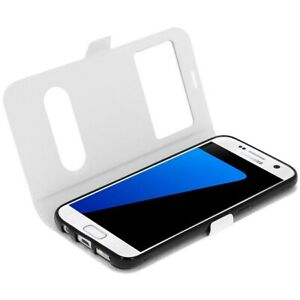 NEW-Luxury-Leather-Magnetic-Double-Window-Book-Case-Cover-for-Samsung-Galaxy