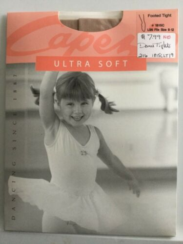 LSN Girls Capezio Ultra Soft Footed Dance Tights #1815 One Size 8-14