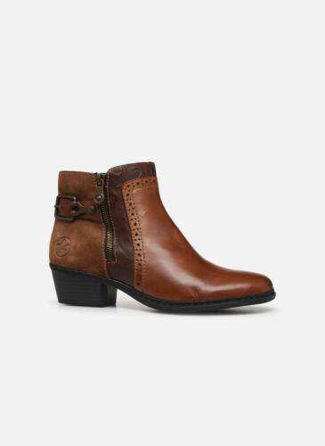 Stiefeletten Rieker Boots Blockabsatz Winter Kunstleder