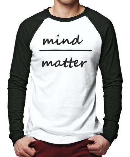 Mind Over Matter-Positive Yoga Méditation Devis Hommes Baseball Top