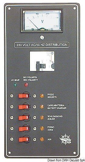 Panel in Strom abwechselnde 220 V Marke Osculati 14.810.22