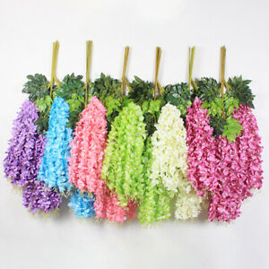 Am-Artificial-Fake-Silk-Flower-Vine-Hanging-Garland-Plant-Home-Garden-Decor-Flo