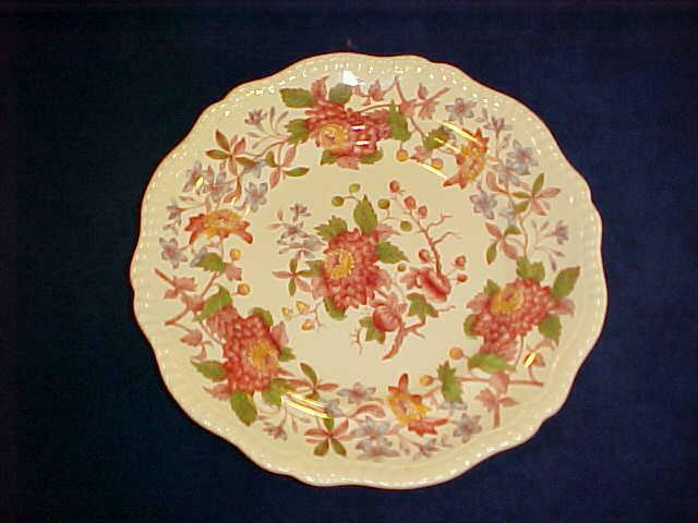 "Spode SPODE'S ASTER RED 10 5/8"" Dinner Plate - NICE!"