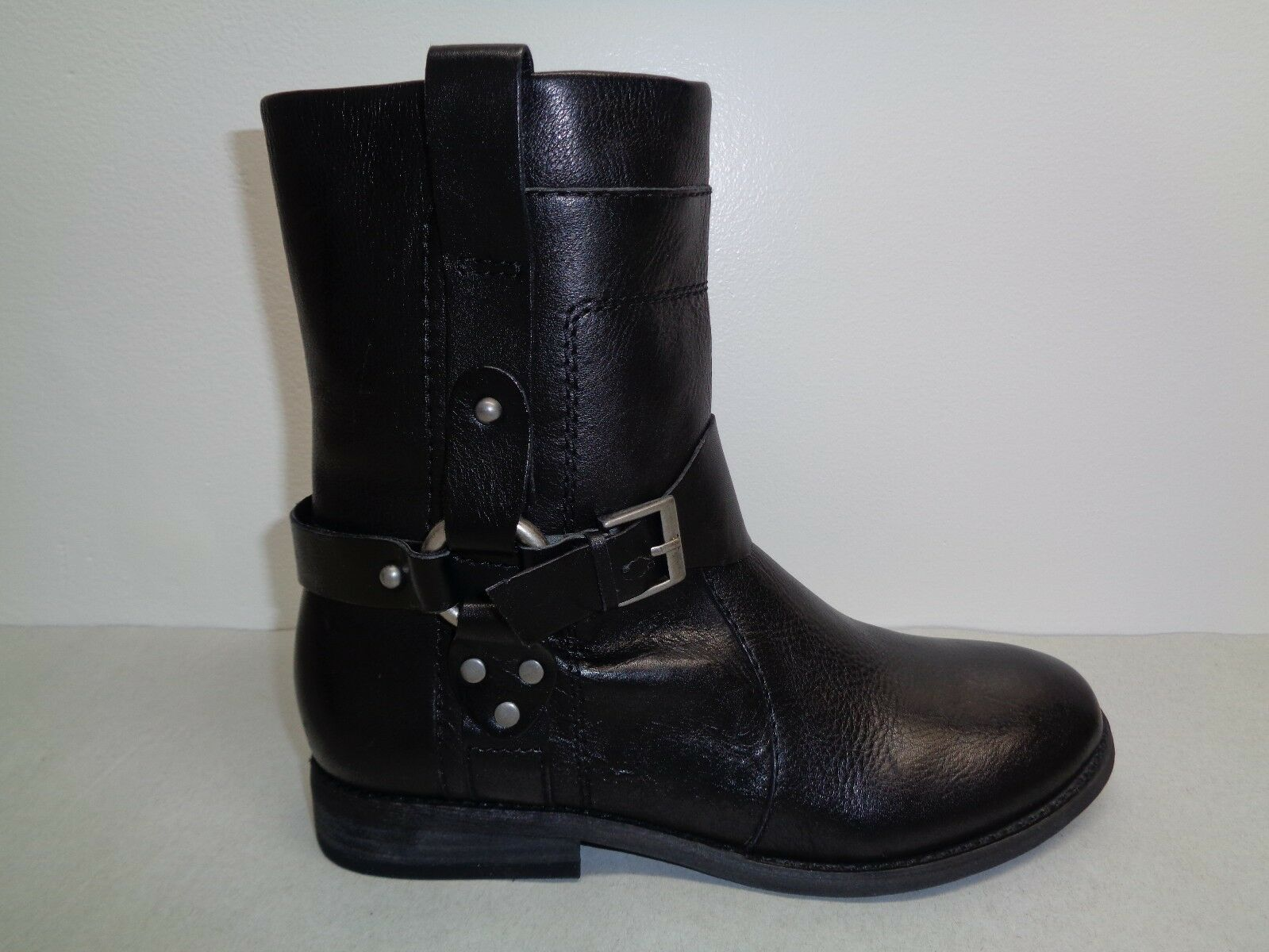 Marc Fisher Size 7 M ASHTREE Black Leather Ankle Boots New Womens Shoes