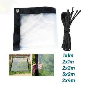 1X Transparent Regensicher Schuppen Tuch Plane Außen Plane Abdeckung Zelt Schutz