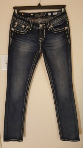 Signature Nwot Stretch Taille 27 Me Droit Straight Miss Blue Jeans wHrAIU4qH