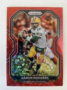 2020 Panini Prizm No Huddle Red 6/50 Aaron Rodgers #206 - Green Bay Packers