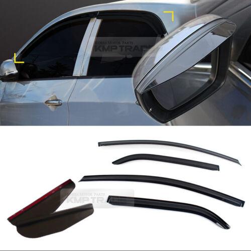 Smoke Window Vent Visors Side Mirror Rain Guard For KIA 2011-16 Picanto Morning