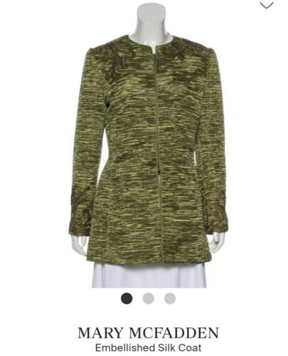 Mary mcfadden couture GREEN JACKET