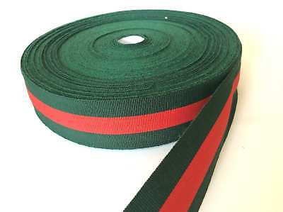 grosgrain nastro strisce verde rosso 10mm fashion decorazione fashion
