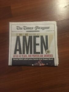 New Orleans Saints Super Bowl News Paper Times Picayune
