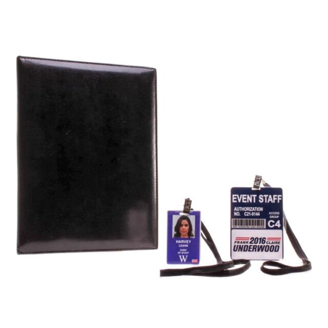 House of Cards Leann Harvey Neve Campbell Screen Used Notebook & Id Set