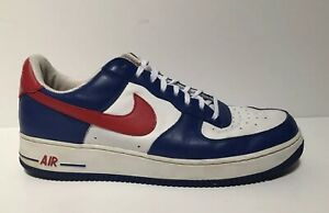 finest selection 51b20 f6131 Details about NIKE AIR FORCE 1 2004 Independence Day Shoes Men Size 12 Red  Blue 306353 164