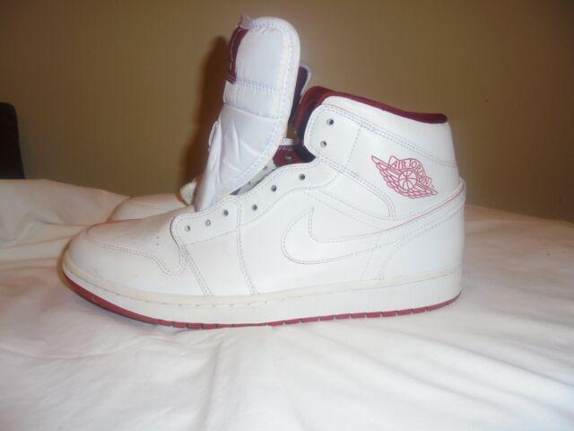 Nike Air Jordan 1 Mid Retro White Gym Red Black Size 11 for sale ... 8e8998586f04