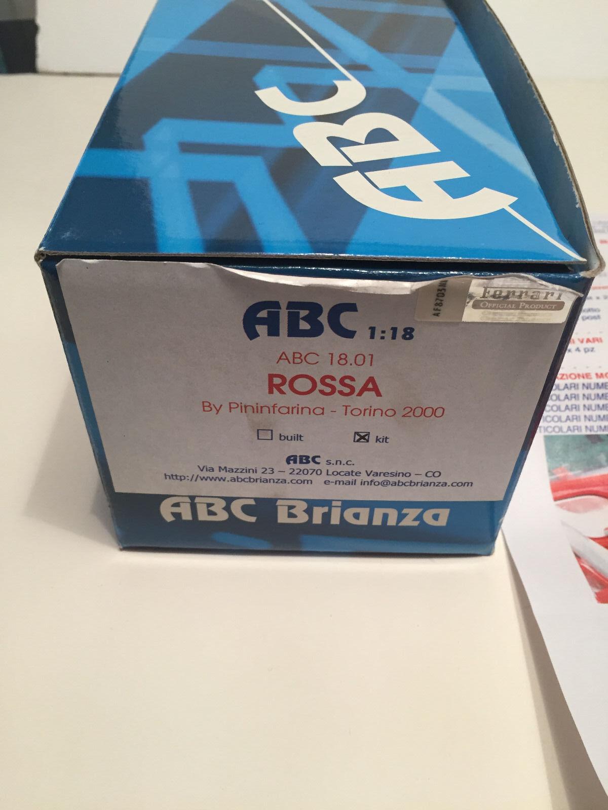 1 18 ABC Brianza ABC 18.01 Ferrari ROSSA By Pininfarina - Torino 2000 Kit