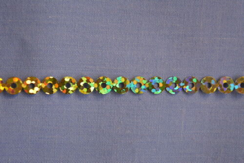 5mm Gold Laser Cut Sequins In A Chain x 2 metres