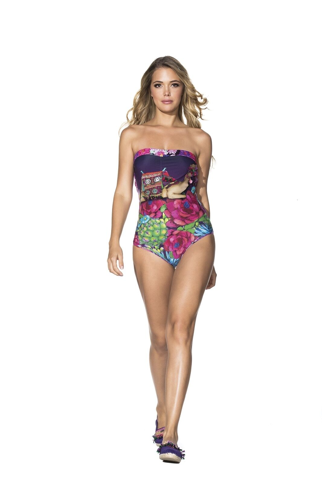 AGUA BENDITA SWIMWEAR BENDITO DESERTICO SMALL ONE PIECE + FREE AB BAG