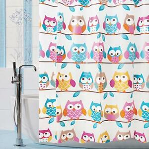 Owl Pattern Bath Shower Curtain Eva Waterproof Home Kids