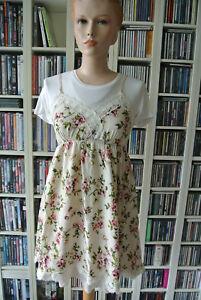 152892ac52674 Das Bild wird geladen Einzelstueck-zauberhaftes-Kleid-Blumen-Spitze -Empire-Kirschblueten-Gr-