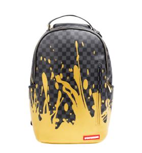 Image Is Loading Sprayground Liquid Gold Checkered Paint Urban School Book