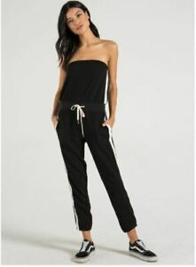 NEW-n-philanthropy-Black-Cat-Delhi-Jumpsuit-Strapless-Side-Seam-Contrast-Small