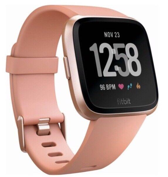 New Fitbit - Peach/Rose Versa - Peach/Rose - Gold Aluminum Smartwatch FB504RGPK 8bcb1a