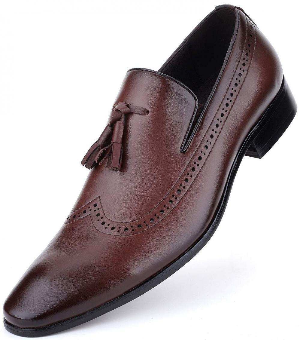 Mens shoes Leather Oxford Wingtip Brogue Loafer Monk Strap Formal...