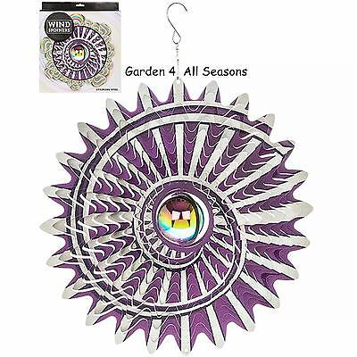 "12/""//30cm ORBIT CYCLOVE Stainless Steel Wind Spinner Sun Catcher Hook Garden Gift"