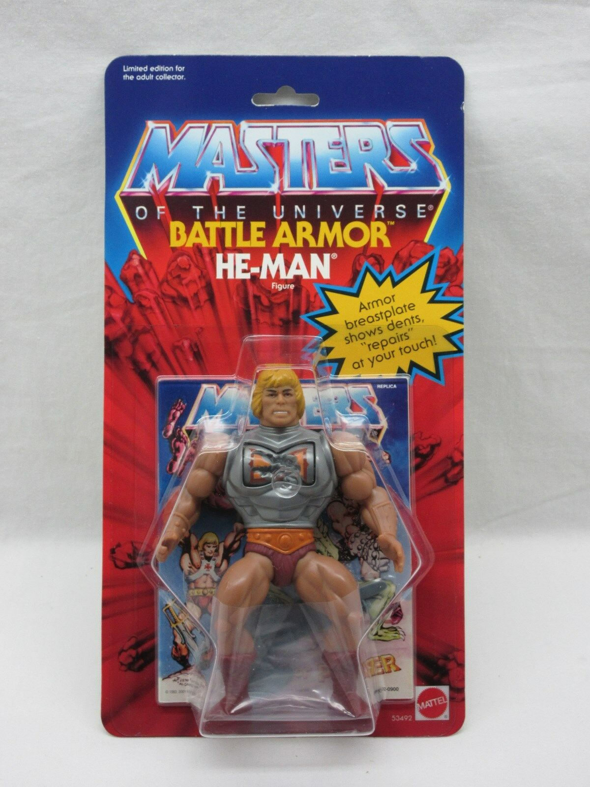 MOTU,Commemorative BATTLE ARMOR HE-MAN,MOC,MISB,Sealed,Masters of the Universe