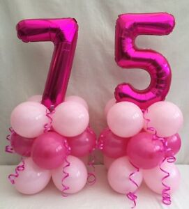 Image Is Loading 75th Birthday Balloon Kit Table Centre Display