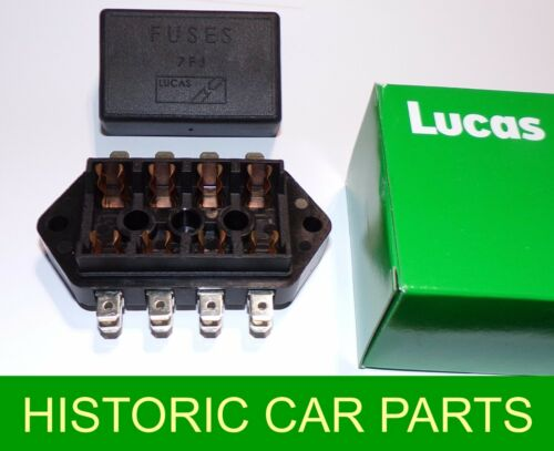 Electrical FUSE BOX for glass Fuses for MGBGT /& Roadster 1971-72 as Lucas 7FJ