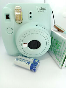 Fujifilm-Instax-MINI-9-Instant-Camera-Ice-Blue-with-10-shots-Film-Pack-NEW