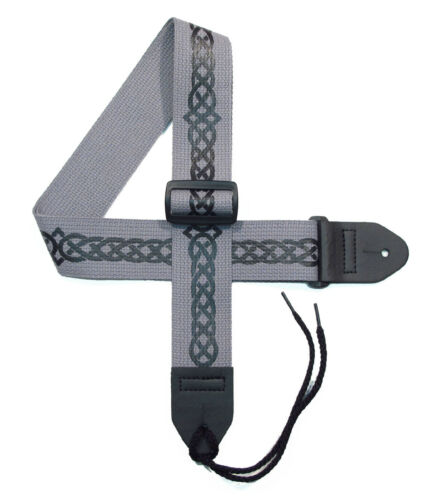 Celtic Guitar strap with Celtic Knot Design Version 3  in different color combos