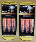 Brush-t Golf Tees Oversize - 2 packs of 3 brush tees - 2.4
