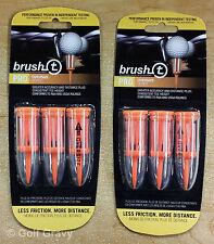 """Brush-t Golf Tees Oversize - 2 packs of 3 brush tees - 2.4"""" height"""
