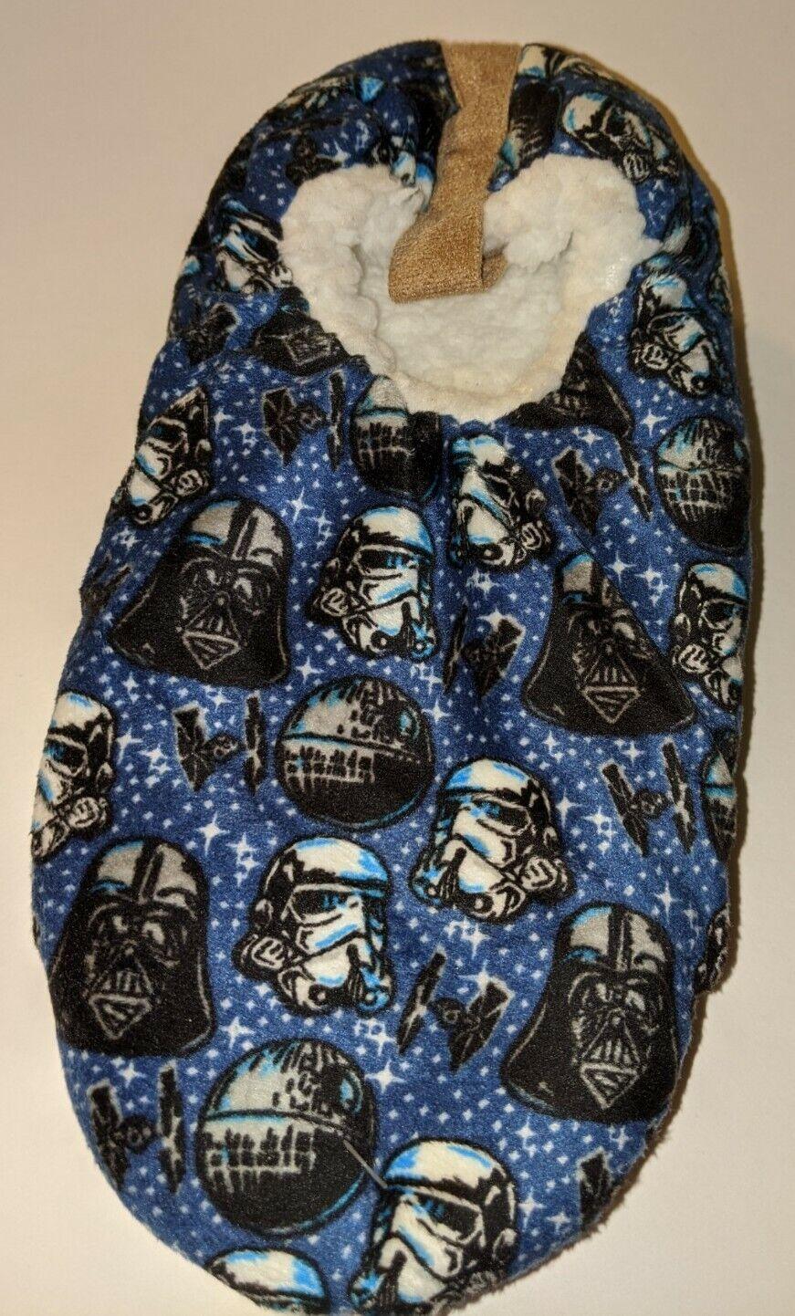 Darth Vader Slipper Socks Warm Cozy Soft Disney Star Wars House Shoes Men's 6.5