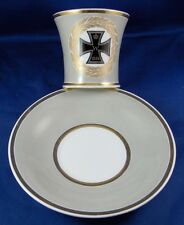 KPM Berlin Porcelain WWI Iron Cross Cup & Saucer Porzellan Tasse German Germany