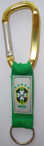 Brazil Brasil Keychain Carabiner with PVC logo and Engraved,Neymar,Hulk,Oscar