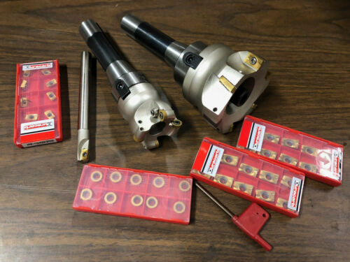 R8 MILLING TOOL SET SHELL MILL FACE MILL 30 INSERTS