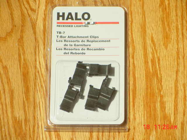 Halo Recessed Lighting Tb 7 T Bar Attachment Clips 4 Pack