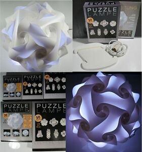 Puzzle-Lampe-S-M-L-XL-XXL-18-5-24-34-42-54cm-Haengelampe-zusammengebaut-OVP