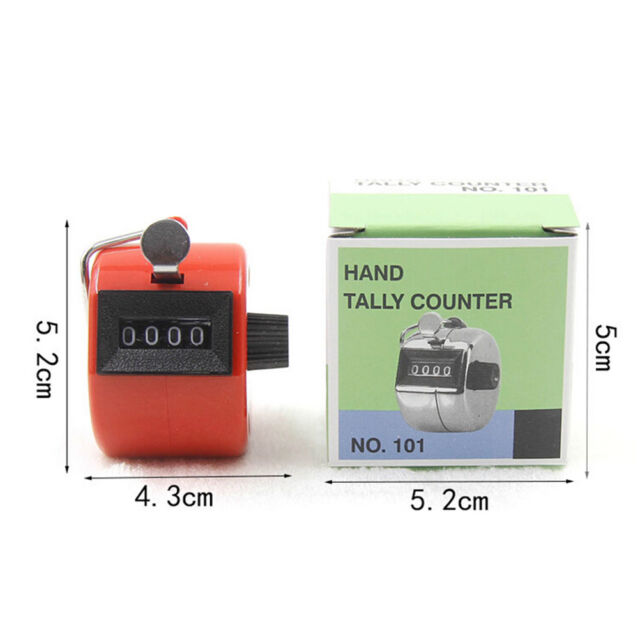 Digital Hand Held Tally Clicker Counter 4 Digit Number Clicker Golf Chrome、 jv