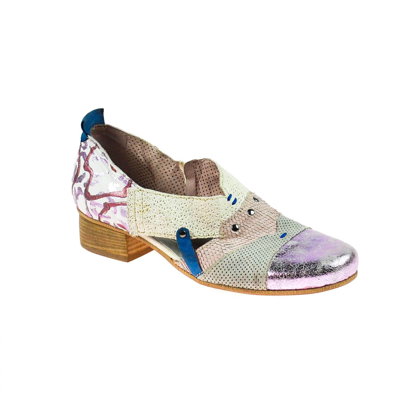 spedizione gratuita Fascino DONNA mezza scarpa pelle bianco grigio lilla viola multicolore multicolore multicolore  vendita con alto sconto