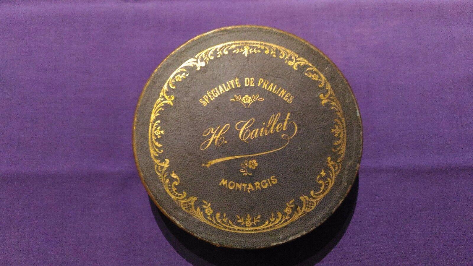 Boite Métallique Vintage   Spécialité De Pralines H.Caillet   Très Bon Etat