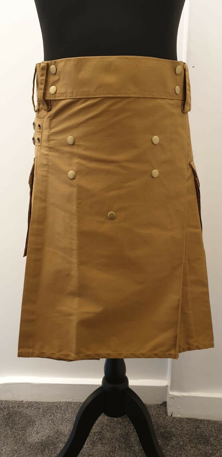 Men's Brand New Brown Cotton Size 38 Utility Kilt, Good Quality 100% Cotton