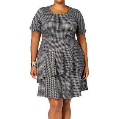 NY Collection Women\'s Fit Flare Tiered Dress Plus Size 1X NWT Checkered |  eBay