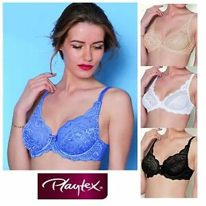 67106000a6a7a Image is loading Playtex-Affinity-Flower-Elegance-Stretch-Lace-Bra-5832-